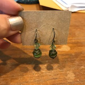 Green Orb Dangles
